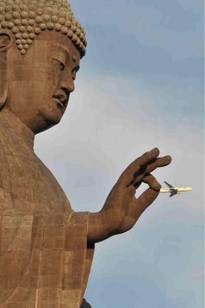 大仏と飛行機